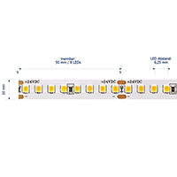 Vorschau: 14,4W/m PRO LED-Streifen 2700K 5m 160 LED/m IP20 24V 1837lm RA90