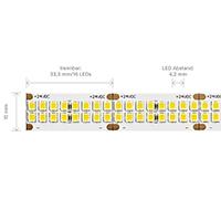 Vorschau: 40W/m PRO LED-Streifen 3000K 5m 480 LED/m IP20 24V 5308lm RA90