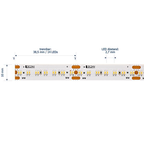 20W/m Tunable White LED-Streifen 3000-2100K 5m 364 LED/m IP20 24V 1980lm RA95