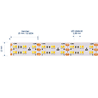 Vorschau: 38,4W/m Tunable White LED-Streifen 4000-2100K 5m 480 LED/m IP20 24V 3200lm RA90