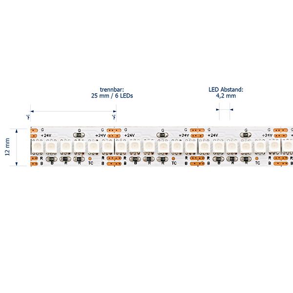 24W/m RGB LED-Streifen 5m 240 LED/m IP20 24V 1009lm
