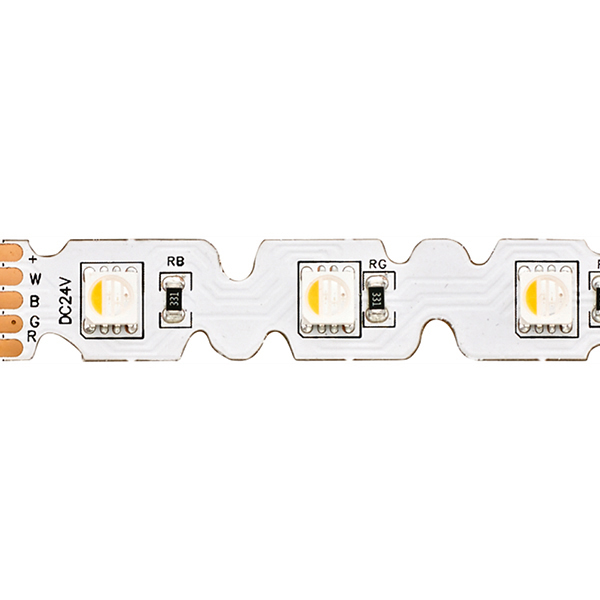 14,4W/m RGB/W S-SHAPE LED-Streifen RGB/2700K 5m 48 LED/m IP20 24V 868lm RA80