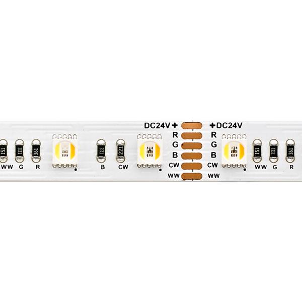 17W/m RGB/TW LED-Streifen RGB/2300+6500K 5m 60 LED/m IP20 24V 1001lm RA80 WH