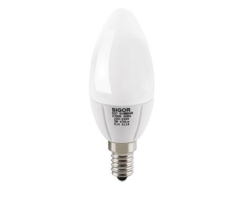 5W LED LUXAR KERZE E14 OPAL DIM -Abverkaufsartikel-