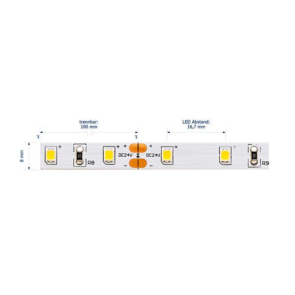 3W/M ESSENTIAL LED-Streifen 3000K IP20 5M 120° 285lm/m RA80 60LED/m dim
