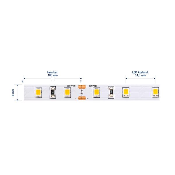 12W/M ESSENTIAL LED-Streifen 4000K IP54 5M 120° 1235lm/m RA80 70LED/m dim
