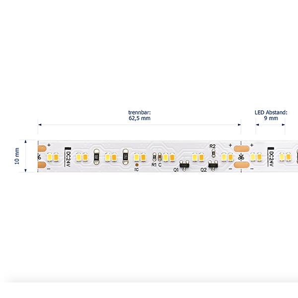 18W/m Farbige LED-Streifen 1800-3000K 5m DIM to Warm 224LED/m IP20 24V 1389lm/m RA90