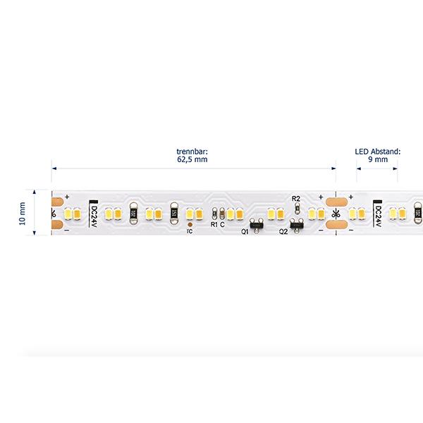 18W/m Farbige LED-Streifen 1800-3000K 5m DIM to Warm 224LED/m IP67 24V 1389lm/m RA90