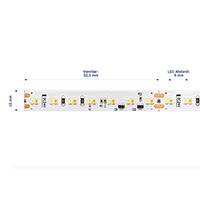 Vorschau: 18W/m Farbige LED-Streifen 1800-3000K 5m DIM to Warm 224LED/m IP67 24V 1389lm/m RA90