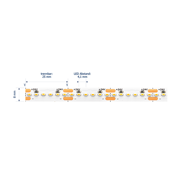 19,2W/m Expert LED-Streifen 3000K 5M Horizontal 240LED/m IP20 24V 1274lm/m RA90