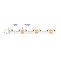 Vorschau: 19,2W/m Expert LED-Streifen 3000K 5M Horizontal 240LED/m IP20 24V 1274lm/m RA90