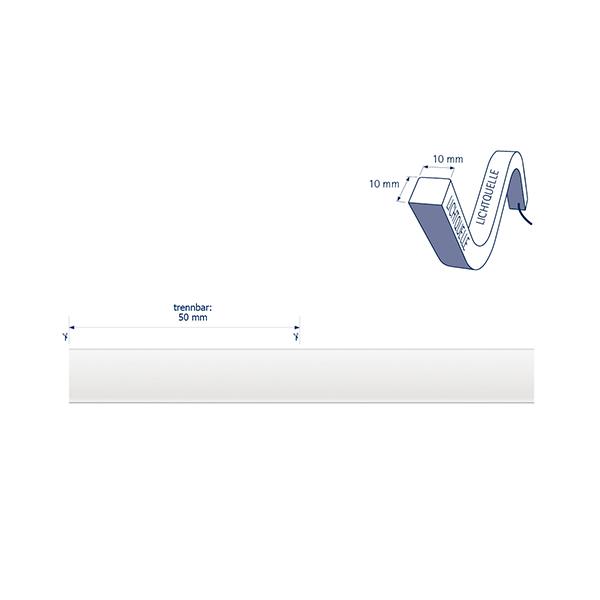 10W/m ART LED-Streifen 2700-5000K 5m OMNI Tuneable W. 72LED/m IP68 24V 190-337lm/m RAX