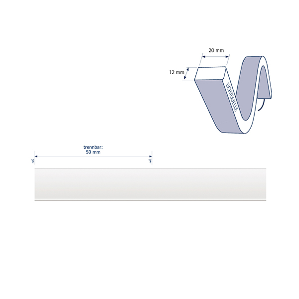 10W/m ART LED-Streifen 2700-5000K 5m SIDE Tuneable W. 70LED/m IP68 24V 334-654lm/m RAX