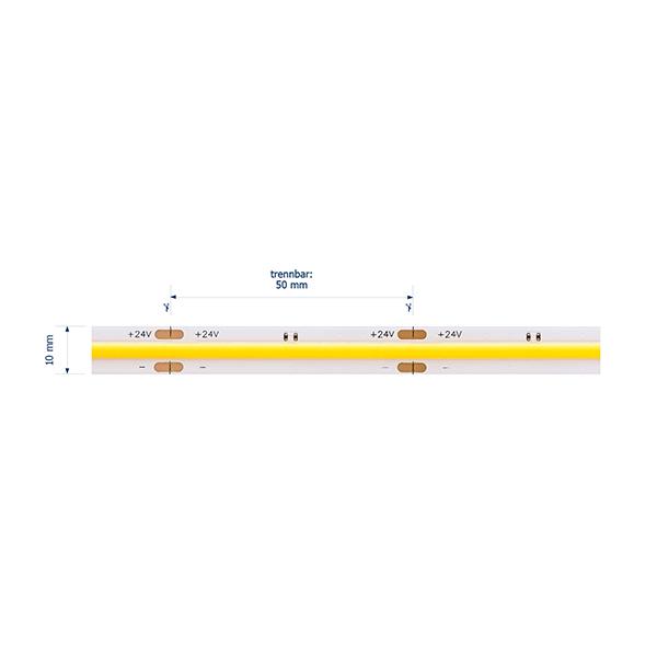15W/m EXPERT LED-Streifen 2700K 5m COB 480LED/m IP20 1400lm/m Ra90 dim