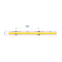 Vorschau: 15W/m EXPERT LED-Streifen 2200K 5m COB 480LED/m IP20 1300lm/m Ra90 dim