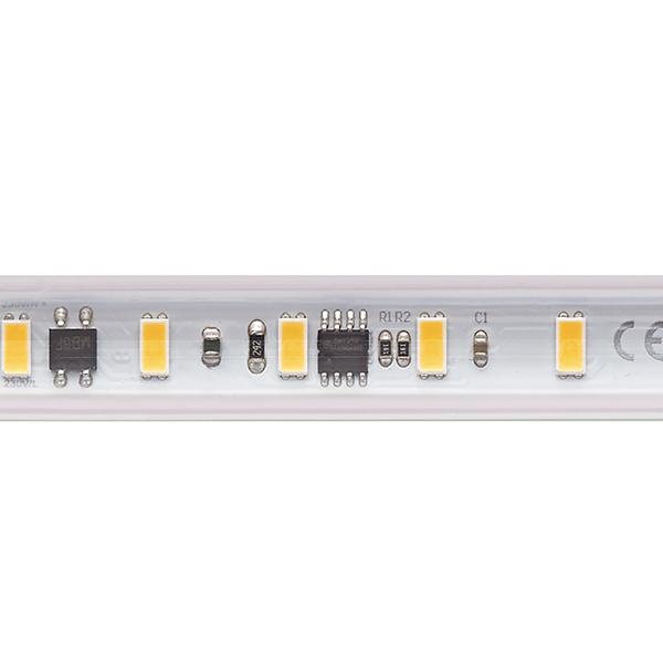 14W/m Hochvolt LED-Streifen 2700K 50m 72LED/m IP65 230V 1230lm/m Ra90