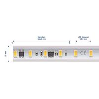 Vorschau: 14W/m Hochvolt LED-Streifen 4000K 25m 72LED/m IP65 230V 1330lm/m Ra90