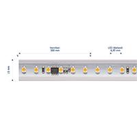 Vorschau: 8W/m Hochvolt LED-Streifen 3000K 50m 120LED/m IP65 230V 520lm/m Ra90