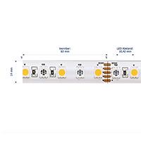 Vorschau: 19,2W/m Farbige LED-Streifen RGB/2700K 5m 96LED/m IP68 24V 900lm/m RA90