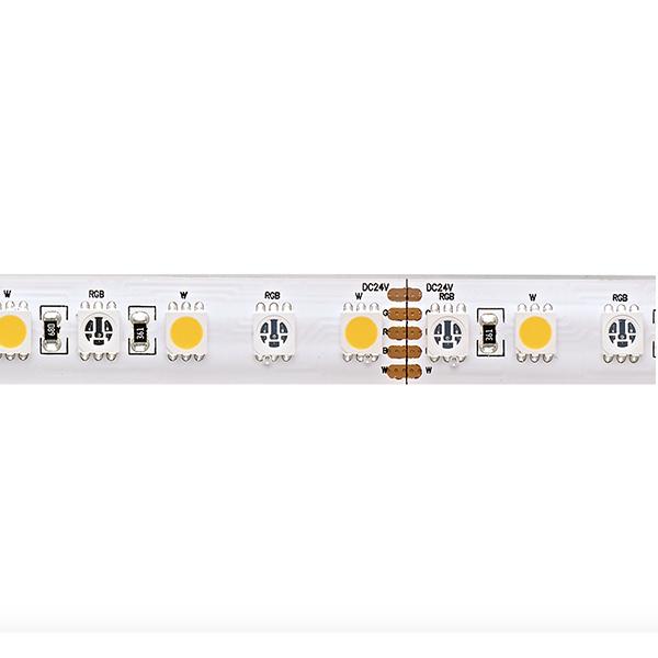 19,2W/m Farbige LED-Streifen RGB/2700K 5m 96LED/m IP68 24V 900lm/m RA90