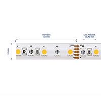 Vorschau: 19,2W/m Farbige LED-Streifen RGB/2200K 5m 96LED/m IP68 24V 900lm/m RA90
