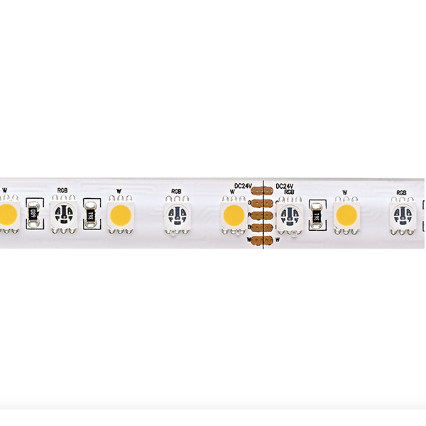 19,2W/m Farbige LED-Streifen RGB/2200K 5m 96LED/m IP68 24V 900lm/m RA90