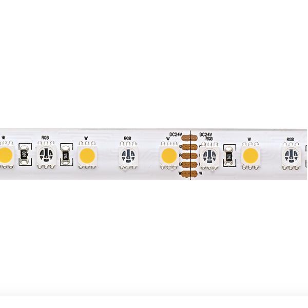 19,2W/m Farbige LED-Streifen RGB/4000K 5m 96LED/m IP68 24V 900lm/m RA90