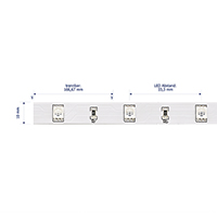 Vorschau: 7,2W/m Farbige LED-Streifen RGB 5m 30LED/m IP20 24V 190lm/m RA95