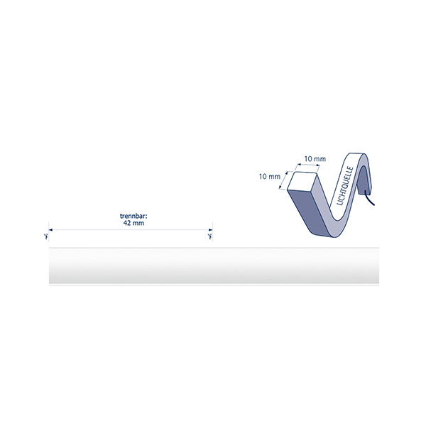 10W/m ART LED-Streifen 2500K 5m TOP 140LED/m IP68 24V 611lm/m RA80
