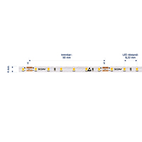 Vorschau: 9,6W/m Spezial LED-Streifen 2700K 5M Slim 4mm 120LED/m IP20 24V 940lm/m RA90