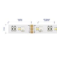 Vorschau: 26,4W/m Farbige LED-Streifen RGB/2300-6500K 5m RGB/Tuneable White 180LED/m IP20 24V 1590lm/m RA90