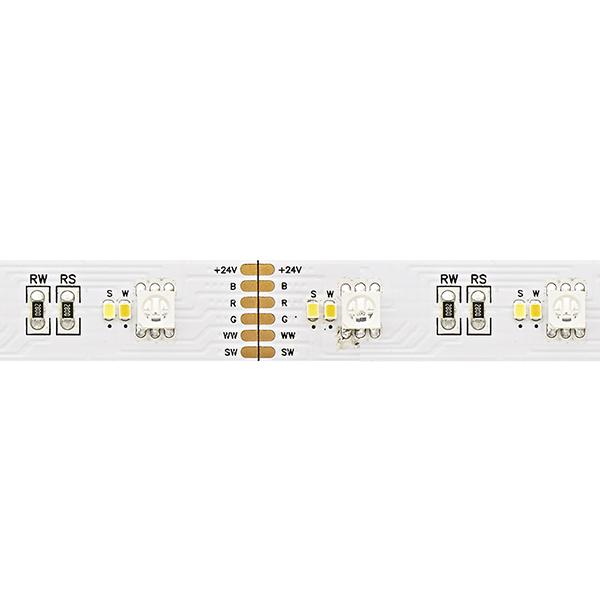 26,4W/m Farbige LED-Streifen RGB/2300-6500K 5m RGB/Tuneable White 180LED/m IP20 24V 1590lm/m RA90