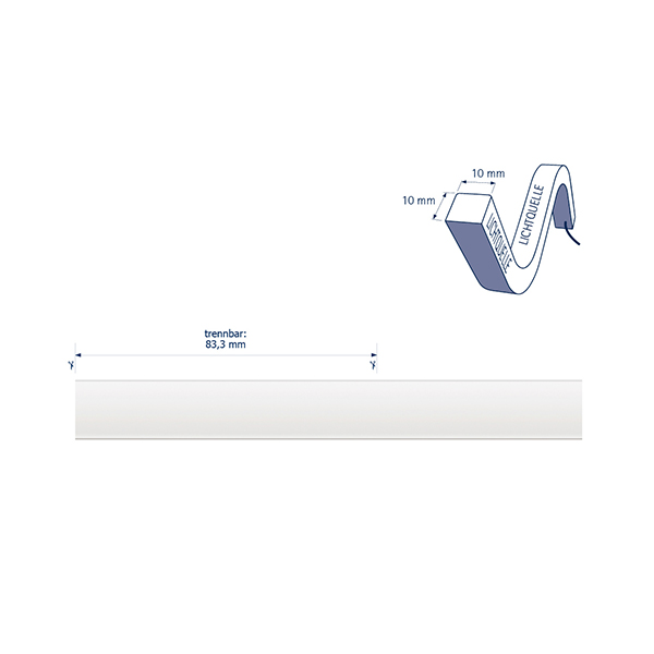 10W/m ART LED-Streifen RGB 5m Omni 72LED/m IP68 24V 310lm/m RAX