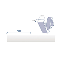Vorschau: 10W/m ART LED-Streifen 2700K 4m SIDE 140LED/m IP68 24V 610lm/m RA80