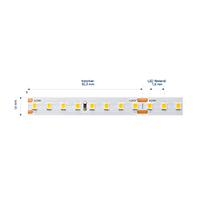 Vorschau: 19,2W/m Expert LED-Streifen 3000K 5m EFFIZIENZ 120LED/m IP20 24V 2515lm/m RA90