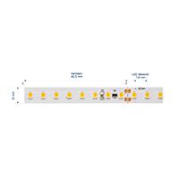 Vorschau: 19,2W/m Expert LED-Streifen 2700K 5m 128LED/m IP20 24V 1920lm/m RA95
