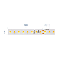 Vorschau: 19,2W/m Expert LED-Streifen 3000K 5m 128LED/m IP20 24V 1987lm/m RA95