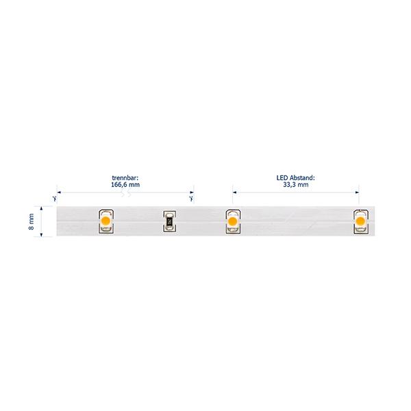 2,4W/m Pro LED-Streifen 2100K 5m 30LED/m IP20 24V 120lm/m RA90