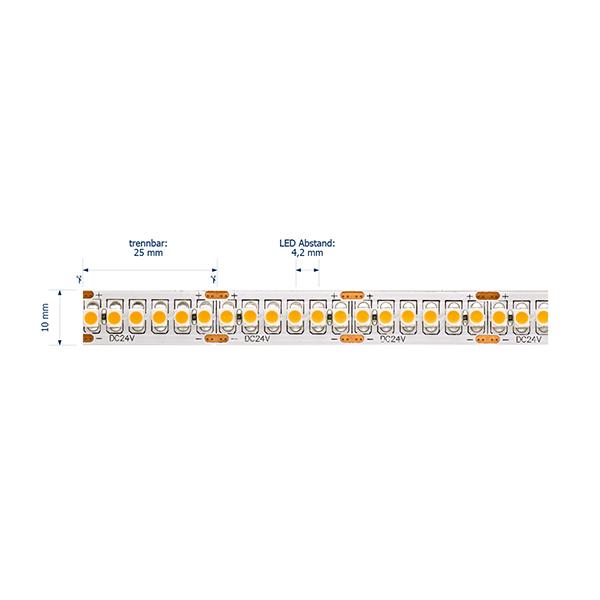 19,2W/m Pro LED-Streifen 2400K 5m 240LED/m IP20 24V 1134lm/m RA90