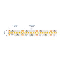 Vorschau: 24W/m Pro LED-Streifen 3000K 5m 240LED/m IP20 24V 2310lm/m RA90