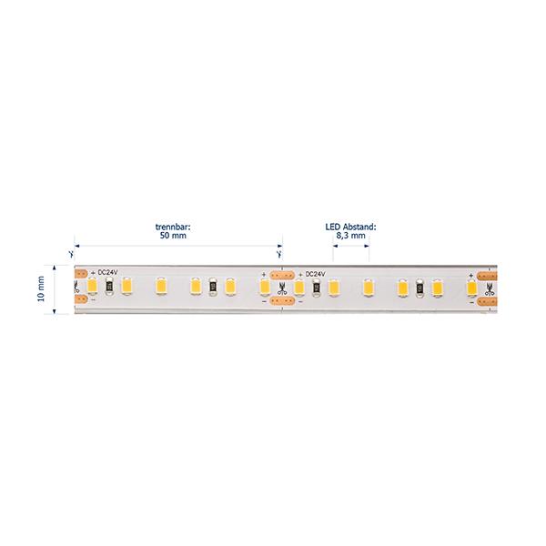 24W/m Pro LED-Streifen 4000K 5m 120LED/m IP68 24V 1460lm/m RA95