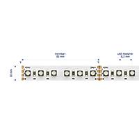 Vorschau: 21,6W/m Farbige LED-Streifen RGB 3m 120LED/m IP20 24V 636lm/m RA80