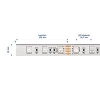 Vorschau: 14,4W/m Farbige LED-Streifen RGB 5m 60LED/m IP68 24V 311lm/m RA80