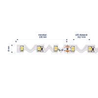 Vorschau: 12W/m Spezial LED-Streifen 4000K 5m Seitlich-biegbar 60LED/m IP20 24V 816lm/m RA95
