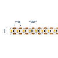 Vorschau: 18,7W/m Spezial LED-Streifen 3000K 5m 1LED-Kürzbar 120LED/m IP20 24V 1535lm/m RA90
