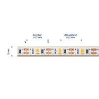 Vorschau: 3.5W/m Spezial LED-Streifen 2700K 3m USB IP67 5V 2700K 290lm/m Ra90