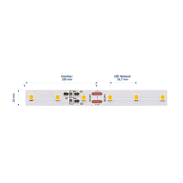 10W/m Expert LED-Streifen 3000K 15m LONG DISTANCE 60LED/m IP20 24V 800lm/m RA95