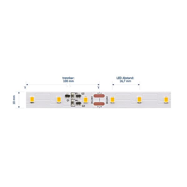 10W/m Expert LED-Streifen 4000K 15m LONG DISTANCE 60LED/m IP20 24V 800lm/m RA95