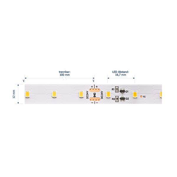 8,5W/m Expert LED-Streifen 3000K 20m LONG DISTANCE 60LED/m IP20 24V 720lm/m RA95