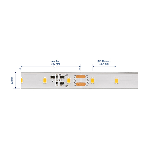 10W/m Expert LED-Streifen 3000K 10m LONG DISTANCE 60LED/m IP68 24V 656lm/m RA95